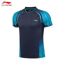 Wholesale Badminton Short Li Ning - Wholesale-Li-Ning 2016 New Men Badminton Sports Shirts Quick Dry Male Badminton Tennis Competition Tops AAYL113