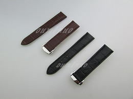 Wholesale Watch Leather Strap 22mm - 20mm or 22mm New High quality Black And Brown Genuine Leather Watch Bands strap For Omega Watch