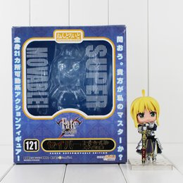 Wholesale Fate Saber Figure - 10cm Anime Fate Stay Night Saber PVC Action figure Colletable Model toy Child's Birthday Gift Free shipping retail