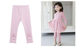 Wholesale Two Colors Tight - Girls' Autumn Leggings Girl Pants Children Leggings Pink Purple two colors Kids clothes Baby Clothing MM 007