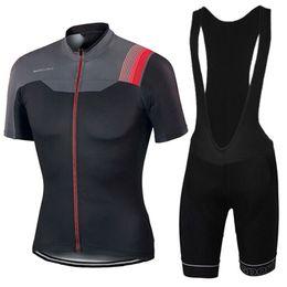 Wholesale Jersey Tops For Women - Summer Style Cycling Jerseys Short Sleeves Black Grey For Men Women Size XS-4XL Cycling Tops GEL Paded Bike Bib Pants MTB Ropa Ciclismo