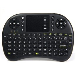 Wholesale Rf Wireless Mouse Keyboard - Retail 1PCS UKB-500-RF Mini Wireless Keyboard 2.4G with Touchpad Handheld Keyboard for PC Android Most Plug And Play 92 Keys Keyboard Mouse