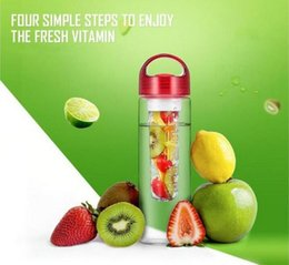 Wholesale Bicycle Hands - Domain1 700ml Fruit Juice Cup Infuser My Sport Drinking Detox Water Bottles Flip Lid TRITAN BPA Free Health Lemon Bicycle Bottle 3colors