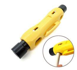 Canada Dénudeur de câble coaxial automatique pour RG59 RG6 RG7 RG11 CAT5 Outils de dénudage Offre