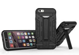 Wholesale Heavy Duty Military Iphone Cases - Military Hybrid future armor Heavy Duty Defender Case With card slot Kickstand for iphone 6 6S PLUS 5S SE Stand case