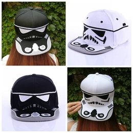 Wholesale Hat War - High Quality Cotton Caps Brand New 2016 Women Men Adjustable Baseball Cap Hip-hop Hats Star Wars Snapback White and Black PK677