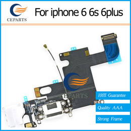 Wholesale New For Iphone - Charger Port for iPhone 6 6s 6 Plus 6s Plus USB Dock Connector Charging Port Flex Cable Ribbon Replacement 100% New Free Shipping
