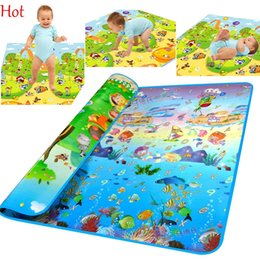Wholesale Play Child Games - Toys For Kids Rug Baby Play Mats Baby Toys Mat Children Developing Pattern Ocean Mat Carpet GameToys Kids Carpet Game Crawling Mat SV010374