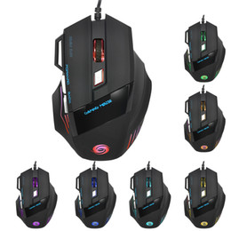 Wholesale X7 Gaming Mouse - Professional Wired Gaming Mouse 7 Button 5500 DPI Colorful LED Optical USB Computer Mouse Gamer Mice X7 In Stock