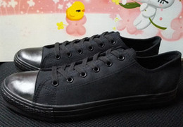 Wholesale Eur 43 - Ship with box! drop ship new 2016 low model canvas shoes unisex shoes for lovers of all size 35-43 eur