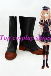 Wholesale Swords Costumes - Wholesale-Swords dance DMM Touken Ranbu Online Game Tantou Midare Toushirou Cosplay Shoes Boots #TR006 Halloween Christmas festival