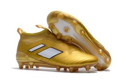 Wholesale High Top Slip Shoes - 2017 Discount Football Shoes Originals ACE 17+ PureControl FG Soccer Shoes Men 17.1 Soccer Cleats Top Quality High Cut EuroCup Free Shipping
