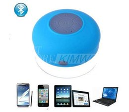 Wholesale Portable Shower Floor - New Portable Waterproof Wireless Bluetooth Speaker Shower Car Handsfree Receive Call & Music Suction Phone Mic Promotion Free Shipping