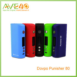 Wholesale Voltage Protection - 100Original Dovpo Punisher 80W TC Box Mod Punisher 80 Temperature Control with Low Voltage Protection Mini Mod