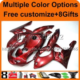 Wholesale Thundercat Fairings - 23colors+8Gifts RED YZF600R 1996 1997 1998 1999 2000 2001 2002 2003 2004 2005 2006 ABS Fairing for Yamaha Thundercat