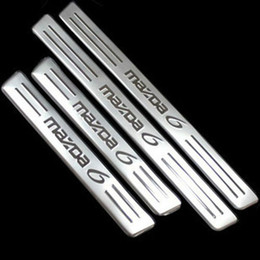 Wholesale Door Sills - 2012 Mazda 6 Stainless Steel Door Sill Scuff Plate Threshold Strip Welcome Pedal for 2009 2010 2011 2012 mazda 6 Car Accessories