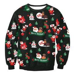 Wholesale Elderly Women Clothing - 2016 New Women Fall Winter Sweatshirts Pullover Long Sleeve Christmas Elderly Print Fashion Trendy Loose Clothing Plus Size M L XL