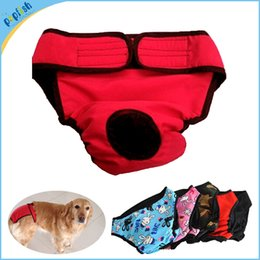 Wholesale Dog Sanitary Diapers - New Big Sanitary Physiological Pants for Large Dogs Underwear Large Breeds Washable Cover Size 8 Colors
