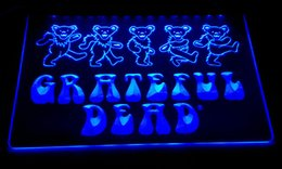 Wholesale Choose Wedding Colors - LD152-b Grateful Dead LED Neon Light Sign Decor Free Shipping Dropshipping Wholesale 6 colors to choose