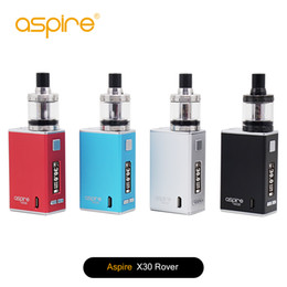 Wholesale Rover Kits - 100% original Aspire X30 Rover kit with NX30 mod & nautilus X tanks black, silver, blue and red 4 colors optional