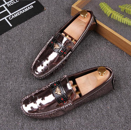 Wholesale Men Drivers Shoes - 2017 summer spring mens black luxury Embossed real leather fashion buckle Loafers soft Moccasins slippers driver Driving Casual shoes Z238