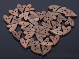 Wholesale Freeshipping Nagelneues Brown hölzernes hölzernes nähendes Herz Form Knopf Handwerk Scrapbooking mm für Kleid Zusätze