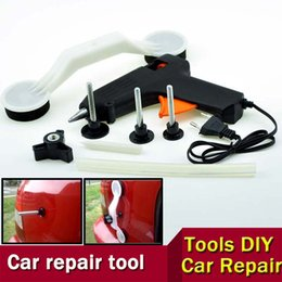 Wholesale Pops Dent Repair - ABS Glue Gun New Pops-a-Dent Ding Repair Removal Tool Set Kit for Car Door Vehicle Auto Automobile Pops Car Dent Repair Device