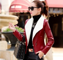 Wholesale Top New Selling Product - Women Autumn Winter Leather Coat Jacket lady winter jacket High Quality PU New Designs Free Shipping Fleece Hot Sale Top-selling Products