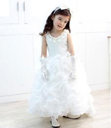 Wholesale First Communion American Girl - 2016 Children Princess Dress Flower Girl Dresses for Wedding Lovely Birthday Party Prom Dress First Communion Dress for Girls