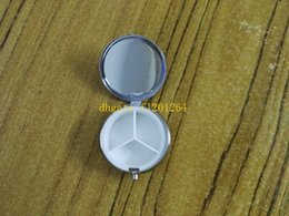 Wholesale Silver Metal Round Pill Box - 800pcs lot Free Shipping DIY Metal Round Silver Tablet Pill Box Holder Advantageous 3 grids Container Medicine Case