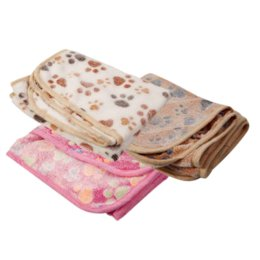 Wholesale Thermal Cat Mat - 3 Colors Pet Kennel Mat Dog Cat Blanket Thermal Warm Fleece Dog Blanket Quilt Footprint Air Conditioning Blanket 76*53CM