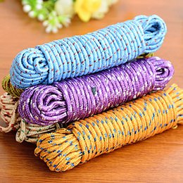 Wholesale Nylon Rope Free Shipping - New Design 10m Colorful Multifunction Nylon Washing Clothes Line Rope Clothesline String 10m Hangers & Racks Free Shipping
