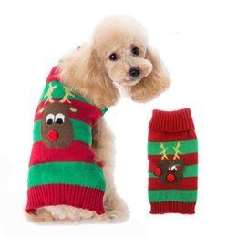 Wholesale Knitted Dog Sweaters - 2017 new knitting Pet Dog Clothing Sweater for Pet Dog Clothes Winter Playsuit Coat for Dog Hoodies Pets Costumes Dress Coat
