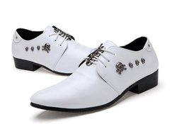 Wholesale Dress Whit Lace - 2016 NEW fashion black whit Genuine leather Men dress shoes, Male Business oxford shoes ,top quality original brand men Wedding shoes NXX359