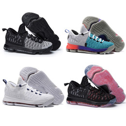 Wholesale Heat Cream - Free Shipping KD 9 Sneakers Mens USA Mic Drop Oreo Pre-Heat Cool Grey Zoom Air Basketball Shoes-63.91