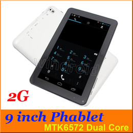 "Wholesale Tablet Dual Sim Dhl Free - B900 9"" MTK6572 Dual Core Phablet GSM 2G Phone Call Tablet PC Capacitive Screen Android 4.4 Camera SIM Card Slot DHL Free Shipping Cheapest"