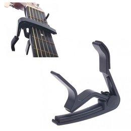 Wholesale Guitar Capo Silver - Top Quality Guitar Capo Made of Aluminium alloy Silver or Black Color Guitarra Capotraste Durable Guitar Parts