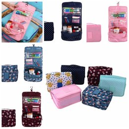 Wholesale Toiletry Wholesalers - Portable Foldable Makeup Bag With Hanger Travel Cosmetic Bag Toiletry Bathroom Wash Storage Organizer Cosmetic Pouch Hanging Bag LJJK789