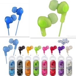 Wholesale Mixes Mp3 - Wholesale 3.5mm HA-FX5 for iphone 5 Gummy In-Ear Headphones Headset for MP3 MP4 PSP Colorful 8 color DHL free shipping