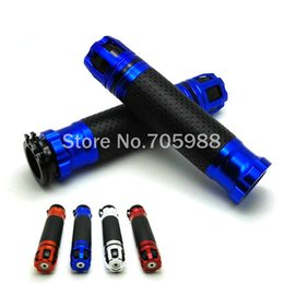 Wholesale Grips Scooters - 7 8 inches CNC Motorcycle handle grips aluminum handlebar grip motorbike scooter girp premium handlebar grips with throttle