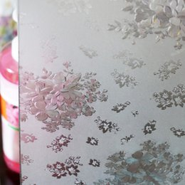 Wholesale Window Frosting Film - Three-dimensional silver edge printing without glue film to the glass sliding door window stickers window paper frosted translucent opaque