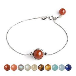 Wholesale Sapphire Sea Crystal - Sun Guardian Star Sea Sapphire Crystal Bracelet 925 Silver Jewelry Female