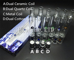 Wholesale Vhit Wax Atomizer Wholesale - Pyrex Glass Hookah atomizer Quartz Ceramic Coil vhit atomizer tank Dry Herb Wax Vaporizer herbal vaporizers pen water filter pipe bongs