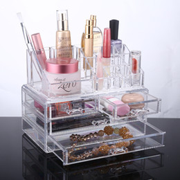 Wholesale Clear Acrylic Makeup Storage Drawers - Clear Acrylic Makeup Organizer Storage case Acrylic organizer drawers Cosmetic Organizer Jewelry storage acrylic cabinet box