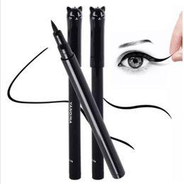 Wholesale Pencil Eyeliner Styles - Wholesale Beauty Cat Style Black Long-lasting Waterproof Liquid Eyeliner Eye Liner Pen Pencil Makeup Cosmetic Tool