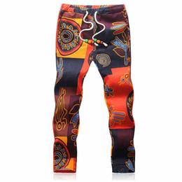 più collant floreali di formato Sconti All'ingrosso-2016 Vintage uomo stretto caviglia lunghezza floreale jogging uomini camo pantalones pantaloni sportivi fiore di lino jogger plus size 5xl