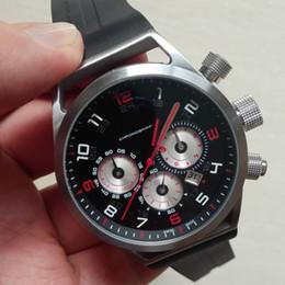 Wholesale 48mm Quartz - 48mm Big size watches men new fashion man clock luxury design rubber strap sports chronograph watches quartz super gift for men
