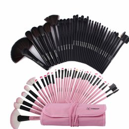2019 32pcs rosa schwarze make-up pinsel set Make-up Pinsel Set Werkzeuge Professionelle Make-up Schönheit Rosa / Schwarz Kosmetik 32pcs Make-up Pinsel Set Fall Schatten Foundation Powder Kits günstig 32pcs rosa schwarze make-up pinsel set