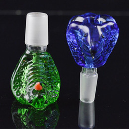 Wholesale Cobra King - Cobra Glass Bowls for Bongs Male Bowl 14.4mm and 18mm Joint Thick Heavy Bowl Snake King Head Shape Bowl Unique Design for Bubbler Smoking