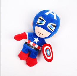 Wholesale Superheroes Plush Toys - 26cm Avengers plush dolls Superhero plush Cartoon toy The Avengers doll Captain America plush toys spiderman doll Christmas baby gift